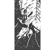 Ninja Face Off (in deep dark alley...) Photographic Print