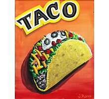 crunchy taco of bliss Photographic Print