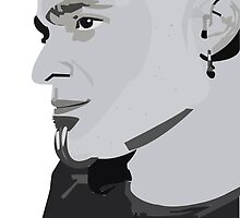 Lead Singer From Disturbed AI Stencil by fizzyart