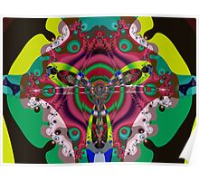 The fractal fly Poster