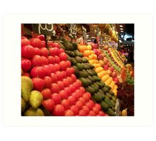 fruit market Art Print