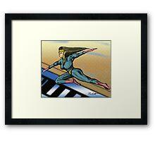 Girl Hero Framed Print
