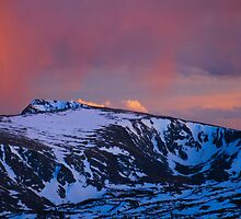 Rocky Mountain Sunset Colors by Stephen Vecchiotti