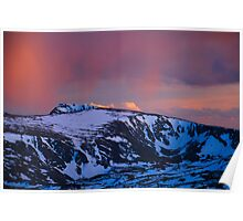 Rocky Mountain Sunset Colors Poster