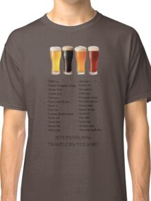 Beer in 26 Languages for Internationional Travelers Classic T-Shirt