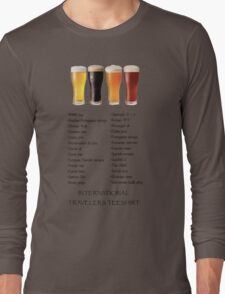 Beer in 26 Languages for Internationional Travelers Long Sleeve T-Shirt
