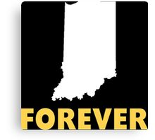 Forever Indiana Funny Tshirt Canvas Print
