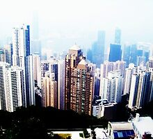 View from the Peak - Hong Kong by michaelajf