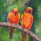 Lovebirds by arline wagner