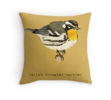 Yellow Throated Warbler Throw Pillow