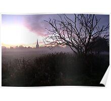 Winter,dawn... Ancaster Church,Lincolnshire Poster