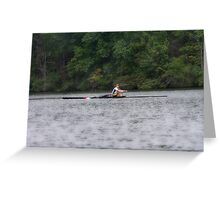 Dude on the Lake Greeting Card