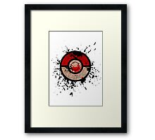 Pokeball-Splash! Framed Print