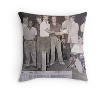 Racetrack Days, 1980's, P's Skelly Throw Pillow