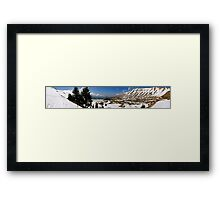 Winters Over - Cedar Forest Lebanon Framed Print