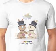 #LoveWins (or Skip & Pip celebrate Marriage Equality) Unisex T-Shirt