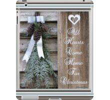 All Hearts Come Home for Christmas iPad Case/Skin