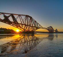 Forth Rail Bridge Sunrise by KitDowney