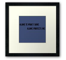 Sherlock quote Framed Print