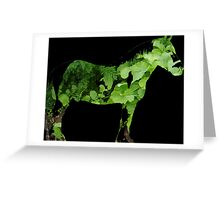 Green Horse Greeting Card