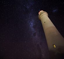 Split Point Lighthouse in Starlight by morealtitude