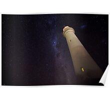Split Point Lighthouse in Starlight Poster