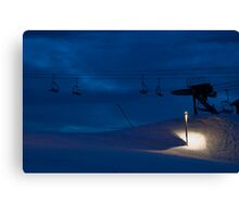 Night chairlift Canvas Print