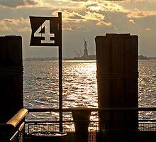 Battery Park Sunset  by Cassandra Burda