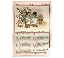 Kate Greenaway Almanack 1880 0011 May Poster