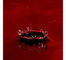 Red Drop 2 Photographic Print
