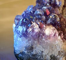 Amethyst under the influence of blue light by walstraasart