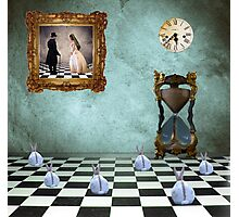 Timed Rabbit Chess Photographic Print