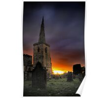 Sunset Cathedral Poster