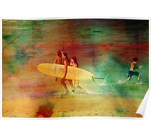 Surfer Girls Poster
