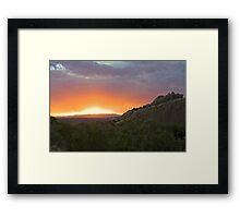 Cub Creek Sunset Framed Print