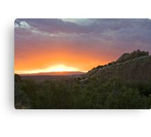 Cub Creek Sunset Canvas Print