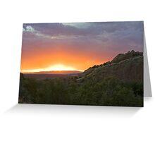 Cub Creek Sunset Greeting Card