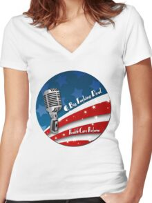 Health Care Reform Women's Fitted V-Neck T-Shirt