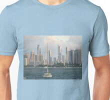 Broadwater  Gold  Coast misty day. Unisex T-Shirt