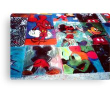 Mickey Mouse Character SideWalk Art in Downtown Disney Florida Canvas Print