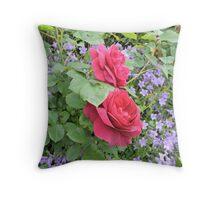 Fuschia Lilac Smile Throw Pillow