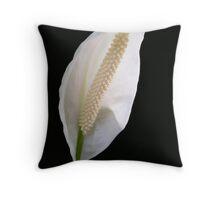 Peace Lily - Close up Throw Pillow