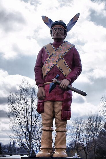 native statue by Cheryl Dunning