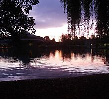 Sunrise Over Campus Lake by Malky-C