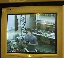 Self Portrait On Monitor by Malky-C
