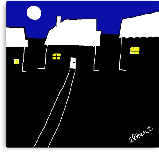 A nice night in suburbia by Albert