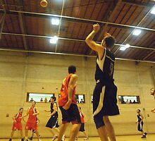 Basketball Player Shot From Below by Malky-C