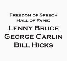 lenny bruce george carlin bill hicks by David Powell