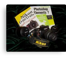My camera and lenses Canvas Print