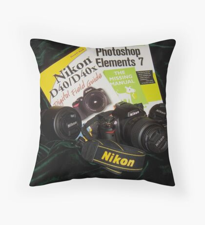 My camera and lenses Throw Pillow
